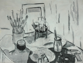 Michelle_charcoal-ink-wash_