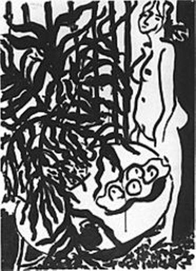 Matisse_ink-brush_interior